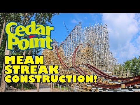 Cedar Point 2018 RMC Mean Streak Roller Coaster Construction Tour
