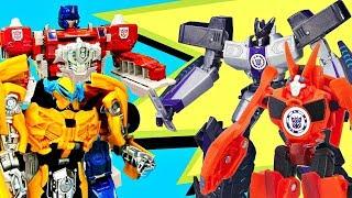 Роботы Трансформеры все серии подряд. Видео про игрушки для мальчиков. Бамблби и Оптимус Прайм. Игры