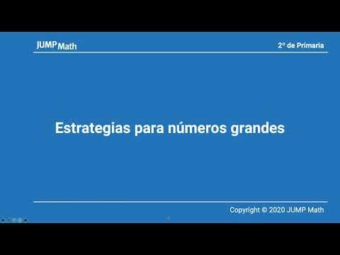 2. Unidad 12. Estrategias para números grandes y multiplicación