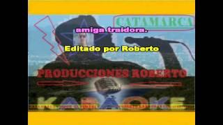 Angela Leiva Amiga Traidora ( karaoke ) (PRODUCCIONES ROBERTO)