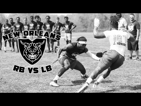 Nike Football's The Opening New Orleans 2017   RB vs LB 1 on 1's