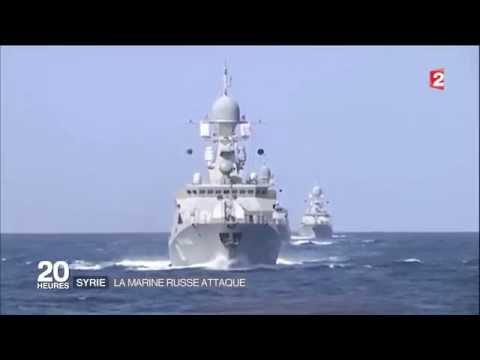 """SYRIE : 26 MISSILES DE CROISIERE """" RUSSE """" , tiré depuis la mer caspienne sur """" daesh """" . HD"""