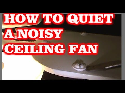 How to quiet a noisy ceiling fan youtube how to quiet a noisy ceiling fan aloadofball Image collections