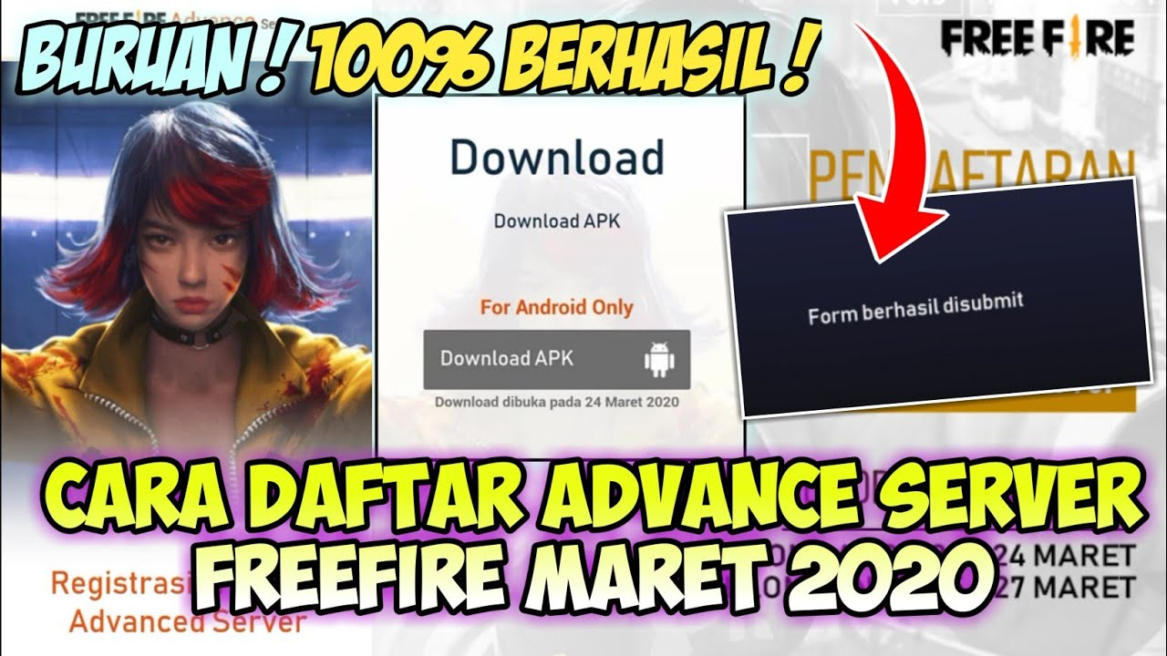 Cara Daftar Advance Server Freefire Terbaru Maret 2020 Freefire Battleground Youtube