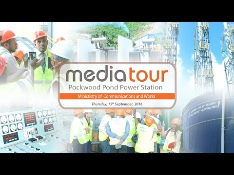 Media Tour of BVI Electricity Power Station