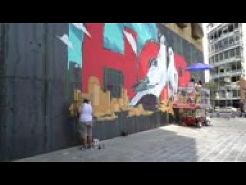 Artists use graffiti to restore hope in Beirut