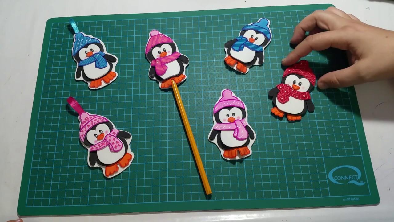 Pinguino navide o christmas penguin youtube for Menu navideno facil de hacer