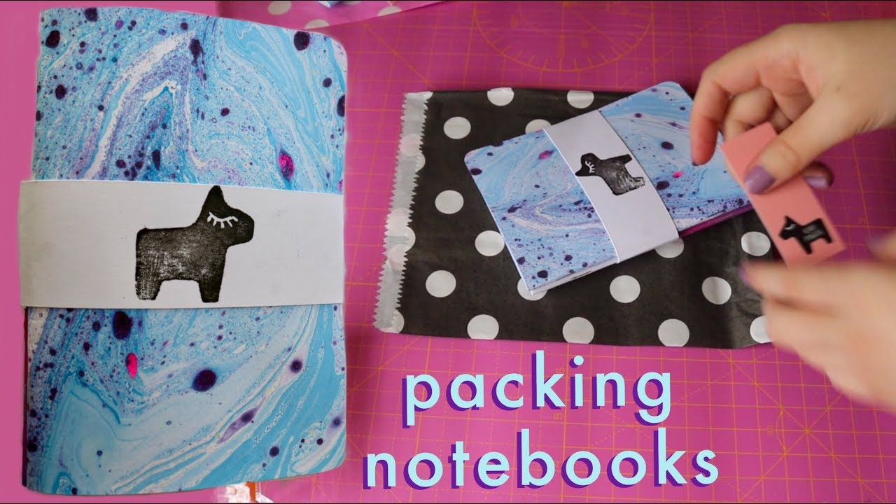 Different ways to Package Handmade Notebooks and Planners   Etsy Shop Vlog 6