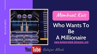 Cara Mudah Membuat Game Edukasi Kuis Who Wants To Be A Millionaire screenshot 3