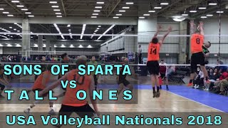 Sons Of Sparta vs Tall Ones (Day 2, Match 5) - USAV Nationals 2018 Volleyball Tournament