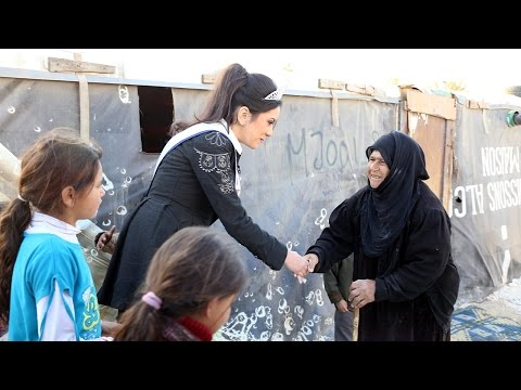 Miss Arab USA visits the Syrian refugee camp in Bekaa, Lebanon