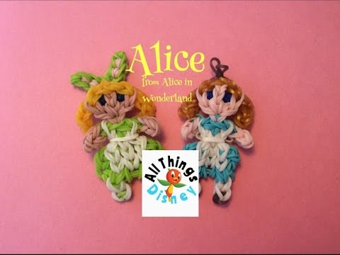 Rainbow Loom Alice: Alice in Wonderland Charm/Figure   Easter Bunny Alice