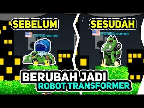 download TRANSFORMER DI GT KEREN MOBIL BISA BERUBAH JADI ROBOT! - Growtopia #29