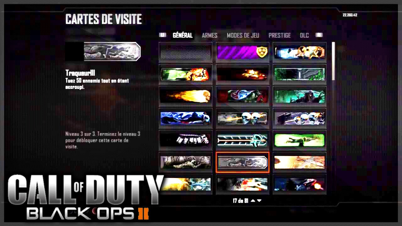 Carte De Visite Zombie Black Ops 3
