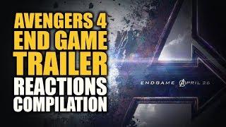 AVENGERS ENDGAME TRAILER Reactions Compilation (ENHANCED EDITION)