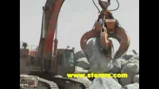 STEMM Hydraulic Grab for Stones