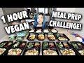 One Hour FULL WEEK VEGAN MEAL PREP CHALLENGE!