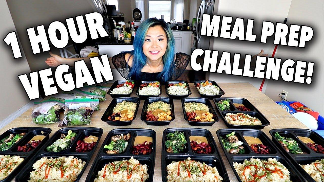 One Hour FULL WEEK Vegan Meal Prep CHALLENGE! (Video