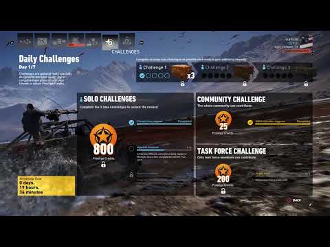 Ghost recon  wildlands daily challenges  week 26 day 1 of 7 solo 2 |