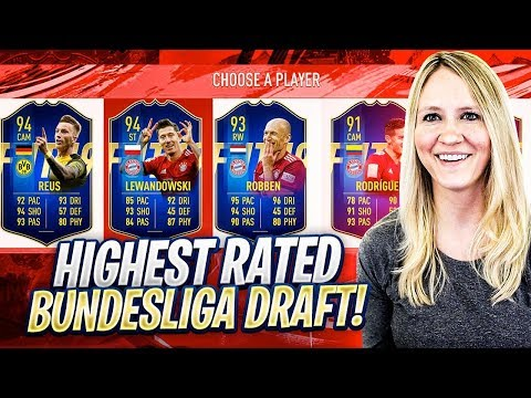 FIFA 19 HIGHEST RATED BUNDESLIGA TOTS FUT DRAFT CHALLENGE!!