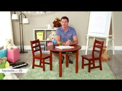 Lipper Childrens Round Table and Chair Set - Product Review Video
