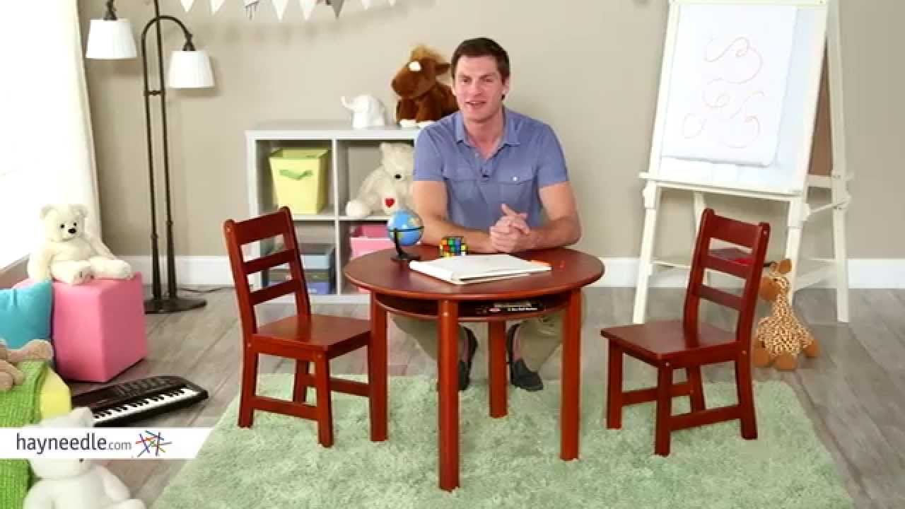 Lipper Childrens Round Table And Chair Set   Product Review Video   YouTube