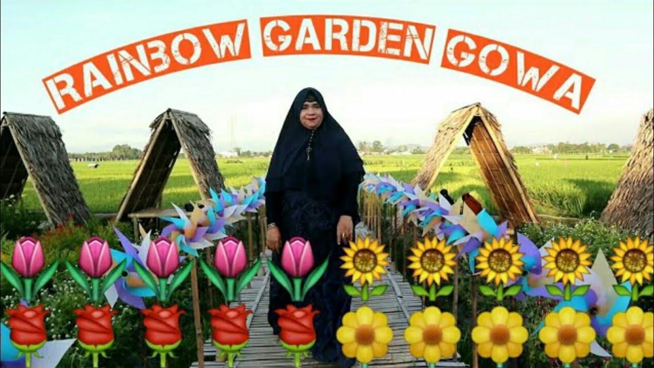Wisata terbaru Garden Rainbow Gowa - YouTube