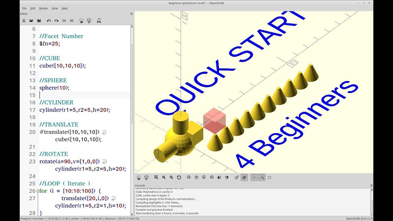 OpenSCAD Tutorial - Beginners Quickstart