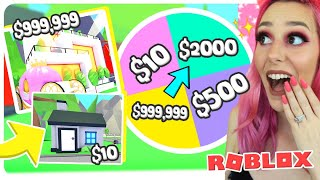 MYSTERY WHEEL DECIDES OUR HOUSE PRICE CHALLENGE In Adopt Me (Roblox)