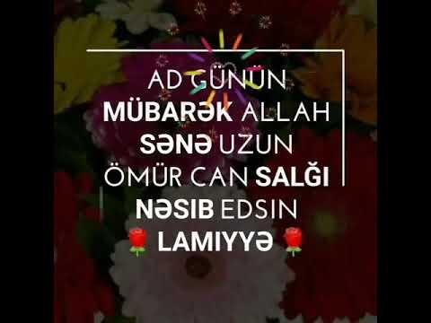 Lamiyə ad günün mübarək ! 🌹
