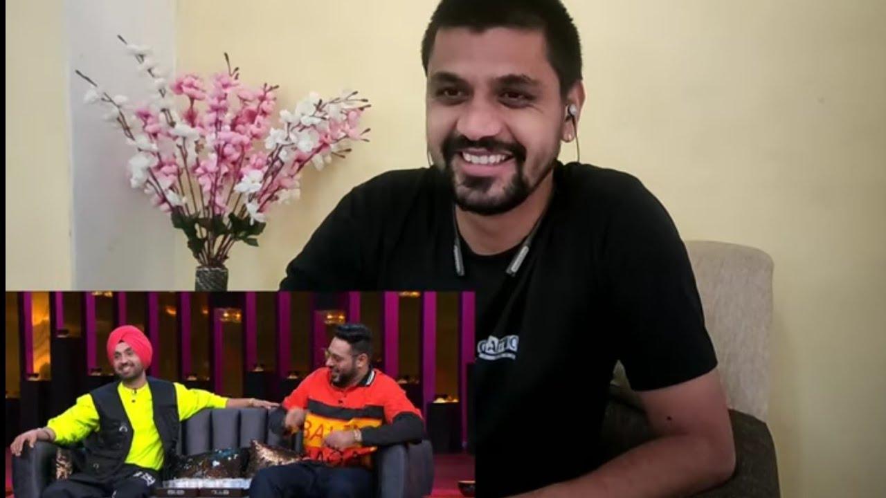 Reaction video of koffee with karan season 6| diljit dosanjh and badshah | koffee with karan