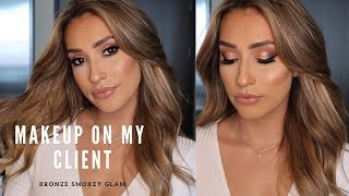 Makeup on my client- Smokey bronze glam