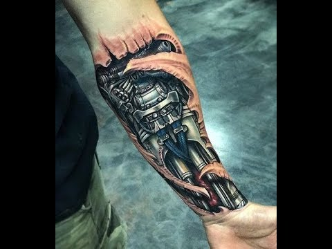 Tatuajes Biomecanicos Brazo Ideas Para Tu Tatuaje Youtube