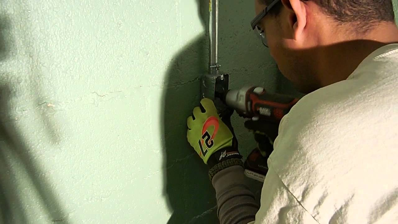 Installing An Outlet On Concrete Wall Youtube Wiring A Two Gang Light Switch