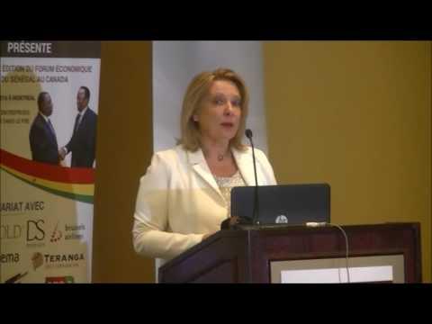 La Ministre  Christine St-Pierre au forum Sénégal - Canada