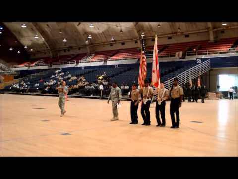 Bell Multicultural High School Color Guard (NJROTC) CityWide competition