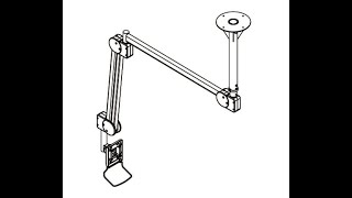 The best TV Ceiling Mount! CUZZI DC982CA Adjustable height, rotating Ceiling Monitor Mount
