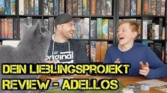 Dein Lieblingsprojekt - Adellos - Brettspiel - Review - mit Autor Till Engel - Boardgame Digger