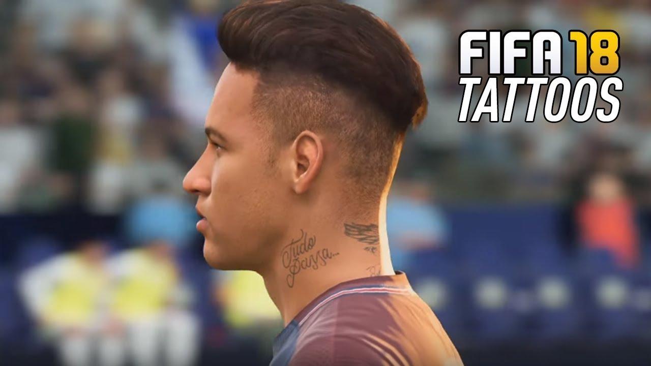 FIFA 18 Player Tattoos Ft Neymar Dybala Messi Jamesetc