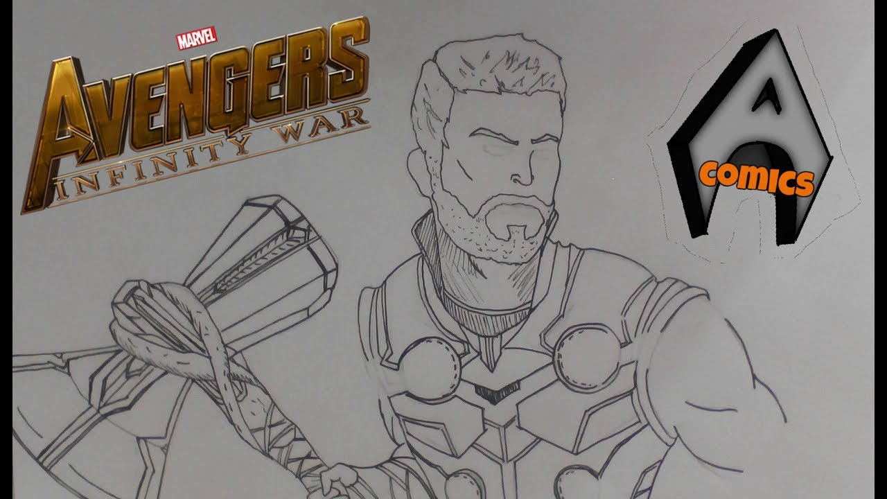 Avengers Infinity War / THOR / STORMBREAKER / PART.1 Speed Drawing - YouTube