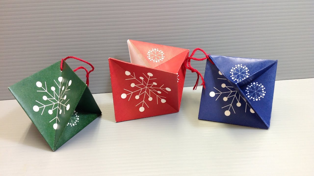 origami christmas ornament print your own youtube