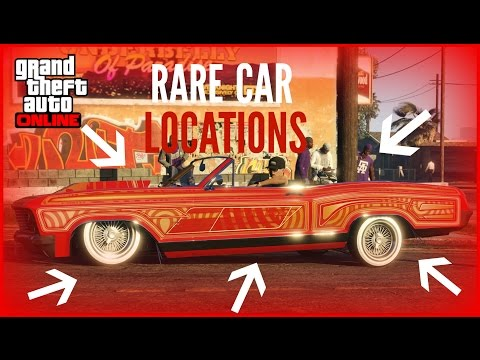 GTA 5 ONLINE ALL VERY RARE CAR LOCATIONS!! (RARE AND SECRET VEHICLES)
