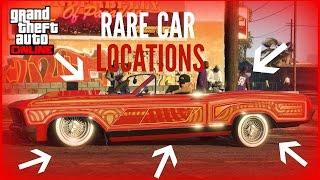 "GTA 5 ONLINE ALL VERY RARE CAR LOCATIONS!! (RARE AND SECRET VEHICLES) ""GTA V"""