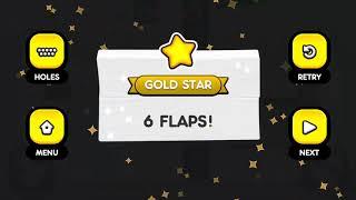 Flappy Golf 2 LINE CITY HOLE 1-9 Gold Star Walkthrough