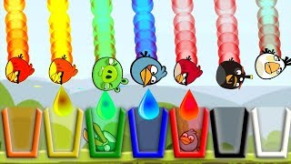 Angry Birds Drink Water 2 - SHOOTING ALL BIRDS TO RAINBOW COLOR CUP OF WATER!