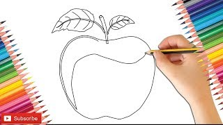 How To Draw Apple For Kids