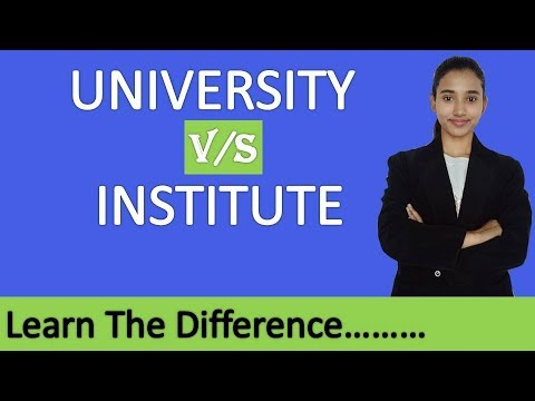 university-vs-institute,-what-is-the-difference