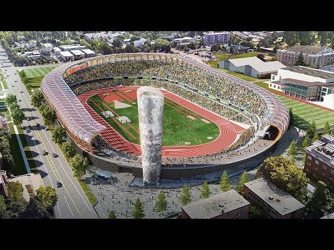 University of Oregon plans a space-age design for Hayward Field