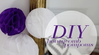 DIY: Honeycomb Pompoms Tutorial
