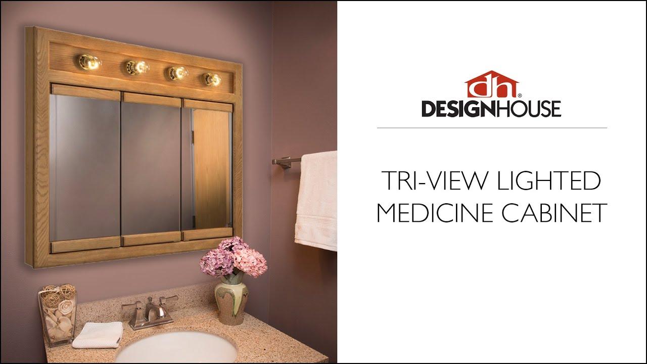 Tri View Lighted Medicine Cabinet